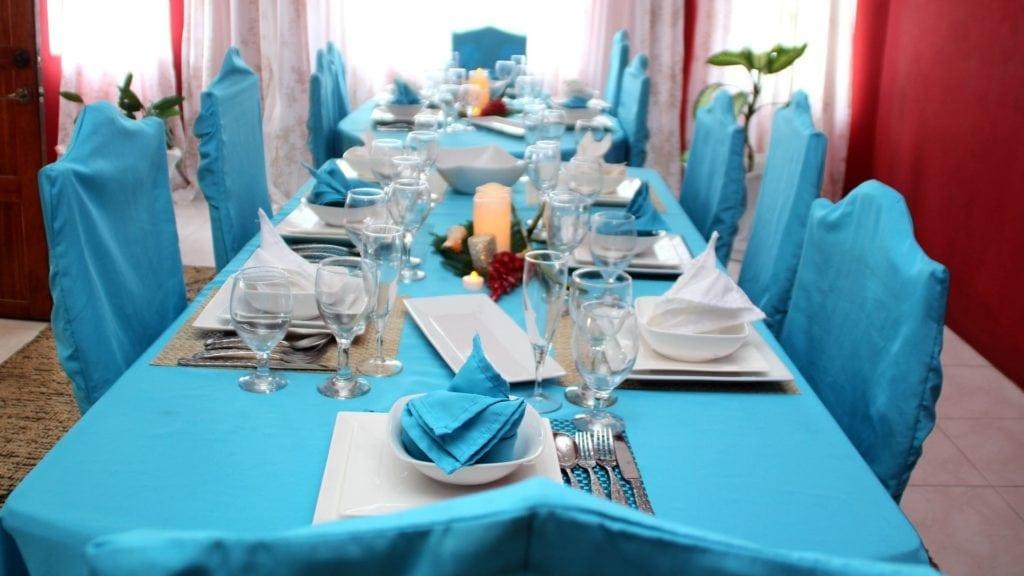 Jamaica villa formal dining room