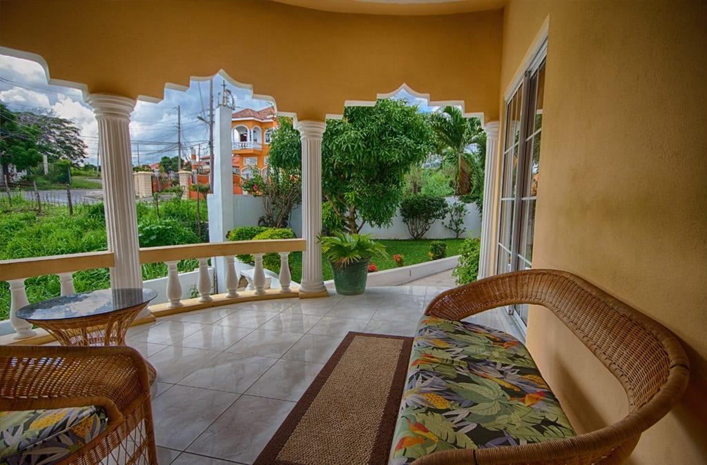 Jamaica Ocean View villa_ private balcony
