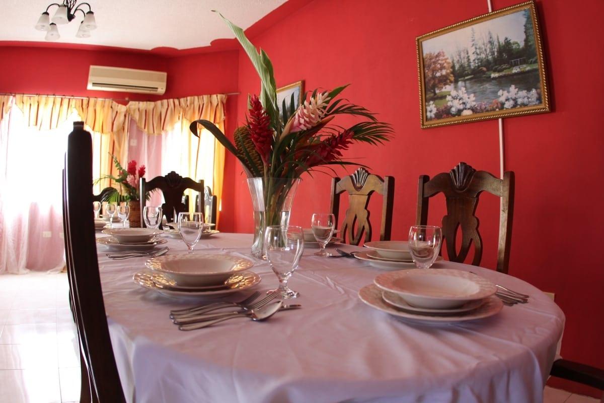 Jamaica Ocean View Villa Formal dining