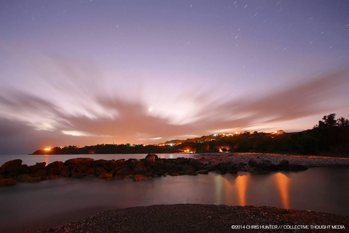 Sunrise from Jamaica Ocean View villa beach