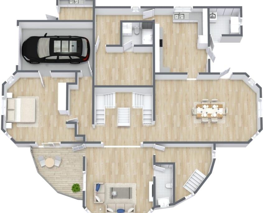 Jamaica Villa Floor Plan 2