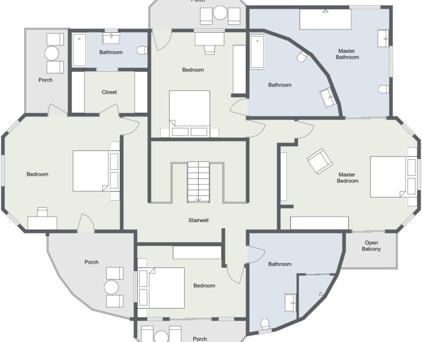 Jamaica Villa Floor Plan 1