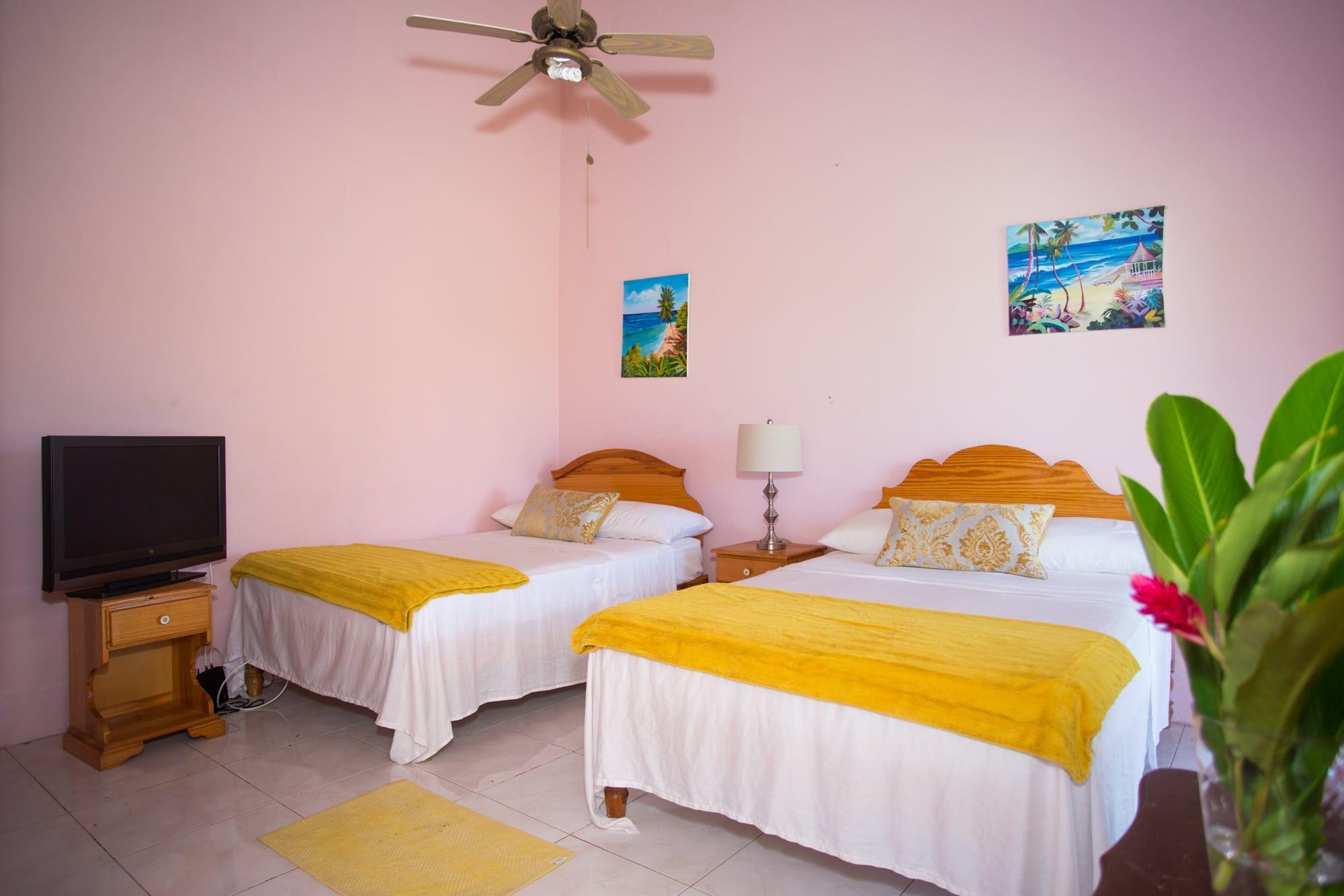 Jamaica villa double bedroom sleeps four