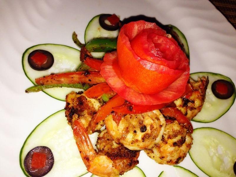 Jamaican-Food shrimp dish