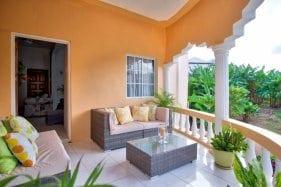 Private patio at villas in Jamaica