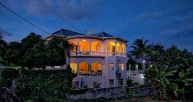 Jamaica Villa Serenity by the sea night view