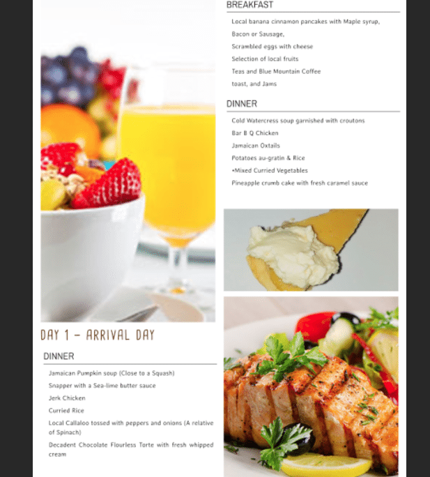 VILLA SERENITY ALL INCLUSIVE GUEST MENU(3)