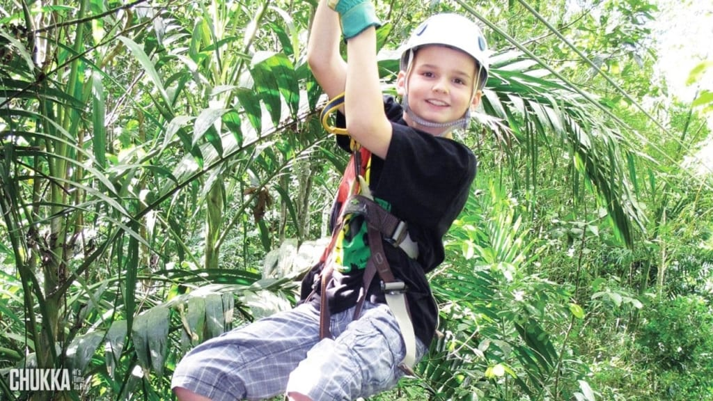Ziplining in Jamaica family activities