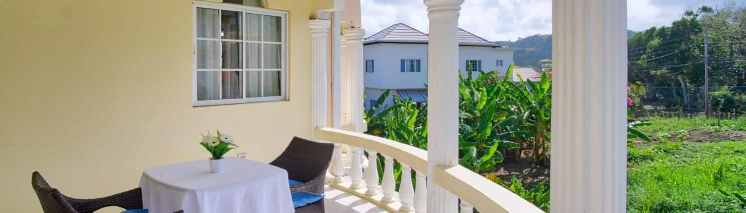 Jamaica villas private balcony with mountain views