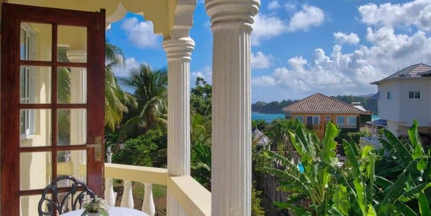 Jamaica villas Private-Balcony-with-sea-view-Villa-Serentiy
