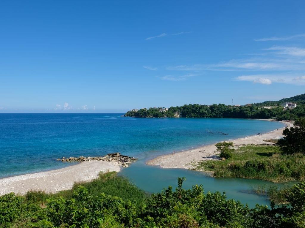 Jamaica villa with private beach